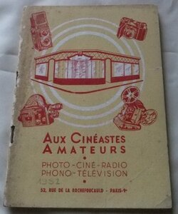 catalog 1952 year France camera shop synthesis French (3188)