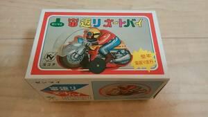 Showa 40 годы * очень редкий * ширина ta zen мой . возврат . мотоцикл жестяная пластина игрушка неиспользуемый товар товар!! ⑩ Showa Retro это . последний!!!