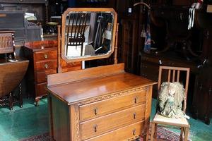 イギリスアンティーク家具 ドレッサー ドレッシングチェスト 鏡台 ミラー/チェスト 英国製 y119a