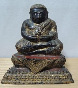 時代 東南アジア仏像 漆金 金銅仏 鍍金仏 全高:13㎝ 重さ824g 密教 唐物 古銅 仏教美術 中国美術 蔵出し品