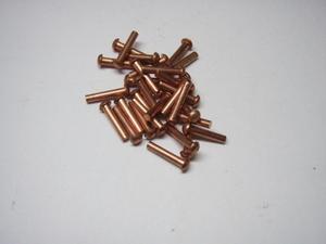 銅 2×10 丸 リベット カシメ鋲 30本