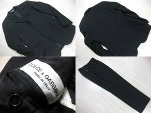 名作 本物 高級 美品 DOLCE&GABBANA ドルチェ&ガッバーナ 3B スーツ 46