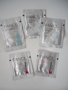 お試し新品★ファンケル FANCL★洗顔パウダー2包&クレンジングオイル1包&BCビューティーコンセントレート2包のサンプル合計5包セット