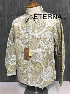 ★ETERNAL エターナル 和柄シャツ 新品 M イエローベージュ 定価9800円 裏使い 53801 日本製