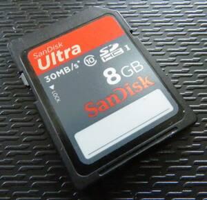 1000円スタート! SanDisk Ultra 8GB 30MB/S  SDHCメモリーカード   USED品20180322