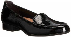 Clarks クラークス 26cm フラット ローファー パテント レザー ブラック 黒 ロー ヒール クラシック パンプス ブーツ サンダル 575