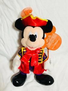 ★貴重絶版完売品★ディズニーシー ハロウィーン 2015 ヴィランズワールド ミッキー ぬいぐるみバッジ ぬいば