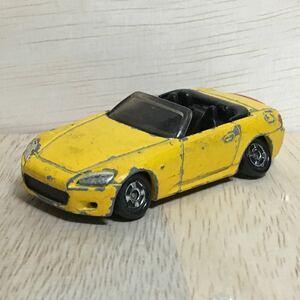 トミカ 64 ホンダ S2000 イエロー 黄 絶版 廃盤 Honda 乗用車 オープンカー スポーツカー 自動車 トミー TOMY TOMICA 希少 レア 赤箱 模型