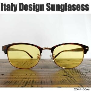 <ITALY DESIGN:2044-5>we Lynn ton Shape * yellow VF: Brown / Gold!!