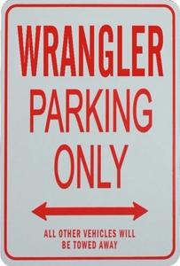 パーキングオンリー サイン ガレージ 駐車場に 看板 JEEP ジープ ラングラー WRANGLER YJ TJ JK アンリミテッド スポーツ サハラ ルビコン