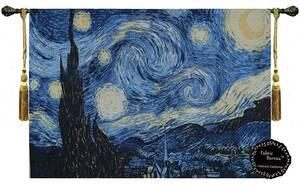 星月夜 ヴィンセント・ヴァン・ゴッホ作 ジャカード織 壁掛けアート装飾 壁掛けタペストリー 絵画レプリカ有名作家インテリア壁飾りゴッホ
