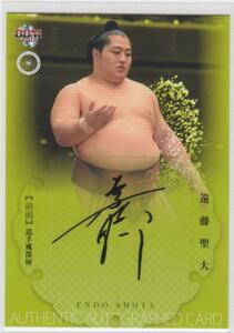 BBM2017大相撲 60枚限定直筆サインカード 遠藤聖大 即決