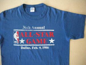 ビンテージ 80S NBA ALL STAR GAME 1986 バスケットボール オールスター ゲーム Tシャツ USA製 アメリカ製 M
