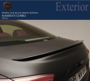【WALD-Black Bison Edition】 マセラティ ギブリ 13y~ カーボン製 トランクスポイラー ヴァルド バルド エアロ Maserati GHIBLI CARBON
