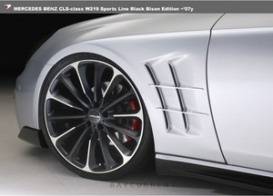【WALD BlackBison Edtion】 Mercedes-Benz W219 CLSクラス ~07y スポーツ フェンダーダクト ブラックバイソン CLS350 CLS500 CLS550