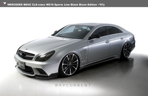 【WALD BlackBison Edtion】 Mercedes-Benz W219 CLSクラス ~07y フルエアロ 3点キット スポイラー ブラックバイソン CLS350 CLS550 エアロ