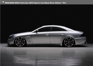 【WALD BlackBison Edtion】 Mercedes-Benz W219 CLSクラス ~07y カーボンピラーパネル ブラックバイソン CLS350 CLS500 CLS550 ベンツ