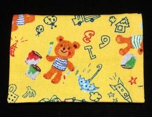 移動ポケット ハンドメイド クリップなし 黄色 クマ お絵描き 送料120円~OK