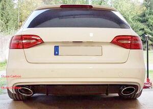 アウディ A4 アバント RS4ルック ディフューザー B8 B8.5 13-15y エアロ リアバンパー リアハーフ