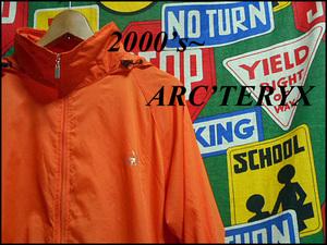 ★春先や梅雨時期におすすめ★ARC'TERYXアークテリックスアークテリクスリップストップナイロンジャケット00s00年代XLオレンジ×グレー