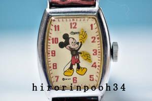 貴重 ● Ingersoll ● 48' ミッキーマウス 手巻腕時計 ● OH済