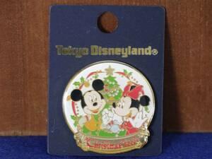 ディズニー ピンバッジ ミッキー&ミニー(クリスマス:2000) 未使用品