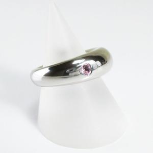 CHAUMET ショーメ アノークールリング K18WG ピンクサファイア ハートシェイプ 10g 9号 ネックレス用紐付 美品