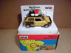 Polistil Mini COOPER MATO GROSSO ポリスティル ミニ クーパー ラリーカー モトクロス 未展示 1/25