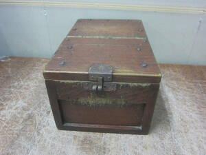 古民具 木製 昔の貯金箱 金庫