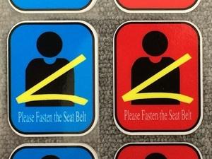 送料込 シートベルト 着用 注意 ステッカー 観光 バス トラック ダンプ トヨタ ホンダ マツダ スバル スズキ ダイハツ 日野 ふそう いすゞ