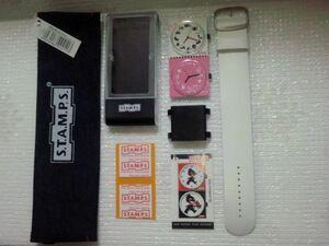 S.T.A.M.P.S. スタンプス 切手の様な時計セット 腕時計としても貼っても 着せ替え時計 A girl's life ポーチ付