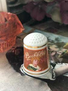 ◆米国フランクリンポーセリン社製シンブル(指貫) ボーンチャイナ◆ビンテージ石鹸広告