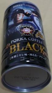2018POKKA SAPPORO(ポッカサッポロ)×日本ハムファイターズ北海道限定缶コーヒーBLACK(無糖)近藤健介8