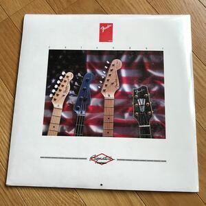 フェンダー カレンダー 1993 シグネチャーシリーズ 未開封 LPサイズ ベース ギター テレキャスター テレキャスター ブラッキー