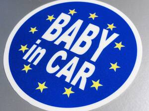 BC-mg*EU Europe BABY in CAR[ magnet specification ] 10cm size * Europe ream . flag _ baby car .... * baby Kids round shape round EU
