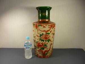 中国 在銘 大花瓶 高さ約46cm (検) 花瓶 花器 壺 飾り壷 中国美術 中国古玩 景徳鎮