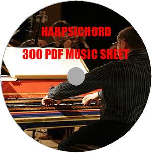 即決チェンバロクラシックPDF電子楽譜300譜レア素材/鍵盤弦楽器練習初心者激レアプロタブレット演奏者指揮者運指音楽曲作曲家スコアipad金