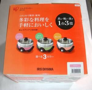 @特価でGO!アイリスオーヤマ マルチクッカー IMC-240P ホットプレート/グリル鍋/グリルパン 終売品 本体中古、付属品は未使用 値下