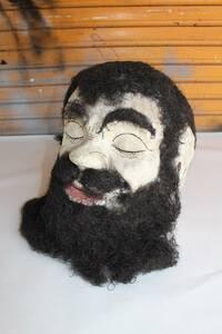 アンティーク マスク ビンテージ 仮面 ハロウィーン USA US  アメリカ製 10's 20's 店舗什器 髭マスク フリークスショー