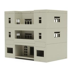 1/100 1/76 1/87■HOゲージ■ジオラマ 鉄道模型 建物 ビル 組み立て 未塗装 未完成品■C068