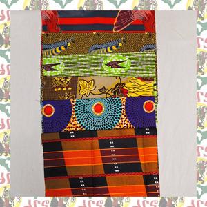 アフリカ生地 アフリカ布 45cm幅 6枚セット ハギレ ハンドメイド素材 パッチワークなど 6