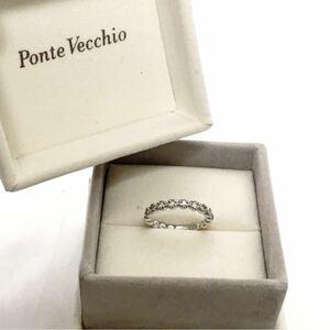 Ponte Vecchio ポンテヴェキオ リング K18WG ダイヤ 超美品! 指輪 保証書付き