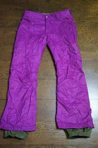 女性用 BURTON バートン スノーボードウエア ラッキーGMPパンツ LUCKY GMP PANT サイズS 紫*REWvolcom686atmysneffroxy