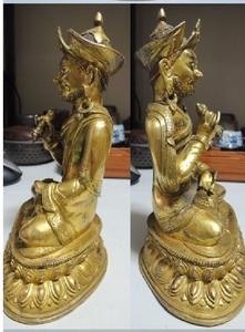 清代 銅金 仏像 佛像 チベット仏 細密細工 蓮花生仏 格裟耳王 仏教美術 時代保証 重さ1.5kg