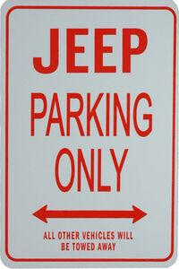 パーキングオンリー 看板 サイン ガレージ 駐車場に JEEP ジープ レネゲード コンパス パトリオット コマンダー グランドワゴニア