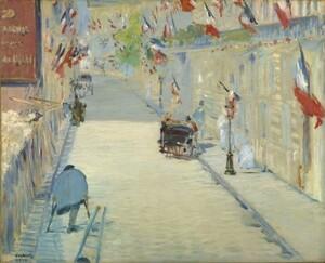 エドゥアール・マネ 旗で飾られたモニエ通り 1878年 壁紙ポスター 特大723×585mm (はがせるシール式) 021S1