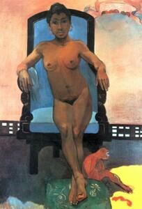 ポール・ゴーギャン ジャワ女アンナ 1893年 プライベートコレクション 壁紙ポスター 特大 576×846mm はがせるシール式 017S1