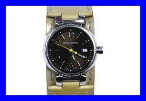 ●本物美品ヴィトン タンブール レディース腕時計ヴェルニQ1211