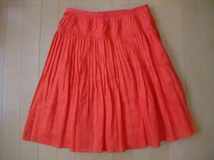 ビームス 麻100%プリーツスカート
