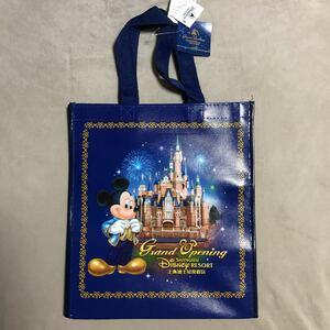 上海ディズニーランド グランドオープン グランドオープニング ショッピングバッグ ミッキー ミニー 有料袋 ショッパー